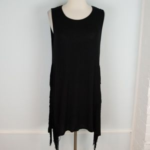 Mossimo fringe side tunic